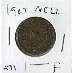 1907 NFLD LARGE PENNY