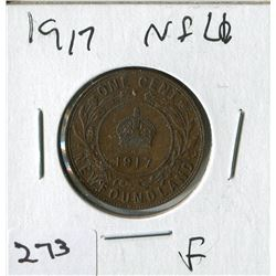 1917 NFLD LARGE PENNY