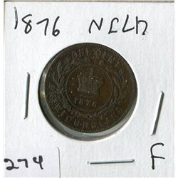 1876 NFLD LARGE PENNY