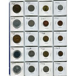 LOT OF FOREIGN COINS (1925 - 2004 *NETHERLANDS, MEXICO, ETC*