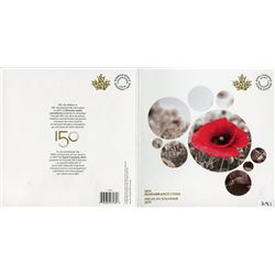 2015 R.C.M. REMEMBRANCE COINS (IN HARD TO FIND FOLDER)