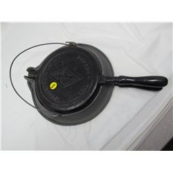 CAST IRON WAFFLE MAKER AND STAND (TAYLOR FORBES LTD CANADA)*GUELPH CANADA