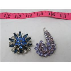 LOT OF 2 LADIES BROOCHES (SHERMAN