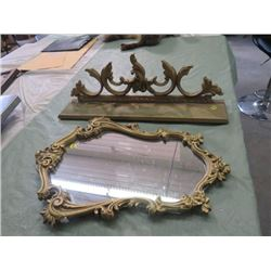 "MATCHING MIRROR AND SHELF (MIRROR IS 21"" H, SHELF 23.5""W)"