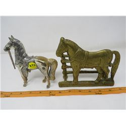 LOT OF 2 HORSE FIGURINES (BRASS) *JAPAN, ITALY*