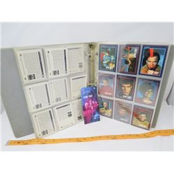 LOT OF ASSORTED STAR TREK COLLECTOR CARDS AND POSTAGE  STAMPS *49 PAGE BOOK OF CARDS, STAMPS UNOPENE
