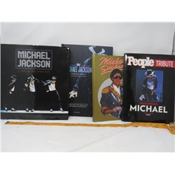 LOT OF 4 MICHEAL JACKSON BOOKS (HARDCOVER)