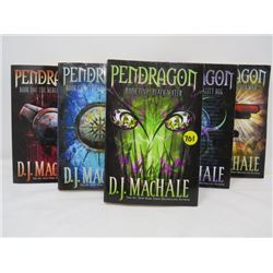 LOT OF 5 PAPERBACK NOVELS (PENDRAGON SERIES, BOOK 1 TO 5) *D.J. MACHALE*