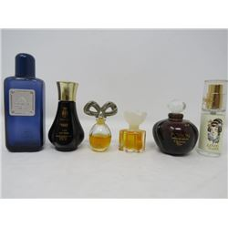 LOT OF 6 ASSORTED PERFUMES, (LOVE AND LUCK, COTY, CHRISTION DOIR, ETC...)