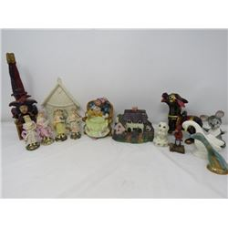 LOT OF 14 ASSORTED FIGURINES