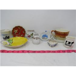 LOT OF 10 SMALL HOUSEHOLD ITEMS (CERAMIC, METAL)