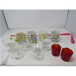 LOT OF 11 CUPS AND GLASSES
