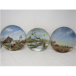 LOT OF 3 DECORATIVE DISHES (SASK WHEAT POOL, SASK SCENES) *HAND SIGNED AND NUMBERED ELENOR OLTEAN #4