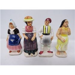 LOT OF 4 TEA FIGURINES (TENDER LEAF TEA) *1950s*