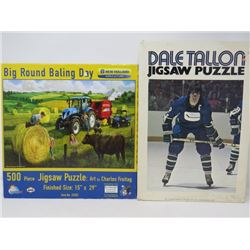 LOT OF 2 PUZZLES (DAVE TALON, BIG ROUND BALING DAY) *500 PIECE EACH*