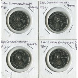 LOT OF 4 TOKENS (EDMONTON COMMONWEALTH GAMES) *1984*