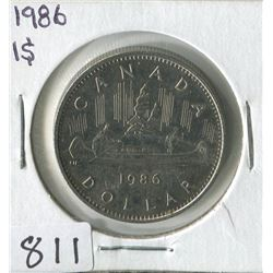 ONE DOLLAR COIN (CANADA) *1986*