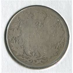 TWENTY FIVE CENT COIN (CANADA) *1918*