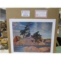 LIMITED EDITION PRINT (ISLAND GEORGIAN BAY, BY FRANKLIN CARMICHAEL)  *20 INCHES TALL BY 24 INCHES WI