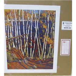 LIMITED EDITION PRINT (THE NORTHLAND, BY TOM THOMSON)  *24 INCHES TALL BY 20 INCHES WIDE*
