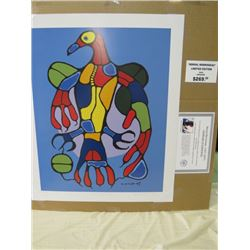 LIMITED EDITION PRINT (ASTRAL THUNDERBIRD, BY NORVAL MORRISSEAU)  *24 INCHES TALL BY 20 INCHES WIDE*