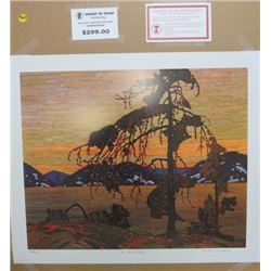 LIMITED EDITION PRINT (THE JACK PINE, BY TOM THOMSON)  *20 INCHES TALL BY 24 INCHES WIDE*