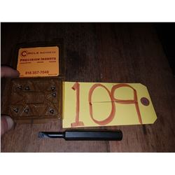 """Boring Bar 1/2"""" with Inserts"""