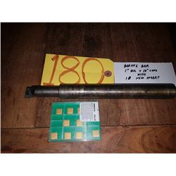 "Boring Bar 1"" x 10"" with Inserts (10)"