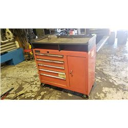 Cabinet with drawer and work table