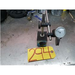 Magnetic Base with Dial Test Indicator