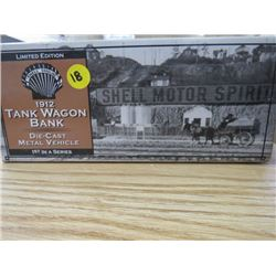 1912 NEW IN BOX TANK WAGON DIE CAST METAL VEHICLE 1ST IN SERIES (NEW OLD STOCK)