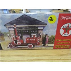 TEXACO 1919 GMC TANKER TRUCK DIE CAST METAL BANK (NEW OLD STOCK)