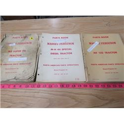 PARTS BOOK- MASSEY FERGUSON MF SUPER 90 TRACTOR, MF 49 DIESEL TRACTOR & MF 150 TRACTOR