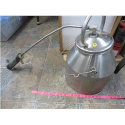 STAINLESS STEEL MILK PAIL CONVERTED INTO A STILL