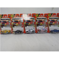 LOT OF 5 MATCHBOX TOYS (FALCON, CROWN VIC, MERCEDES, ETC…) *N.O.S.*
