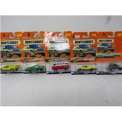 LOT OF 5 MATCHBOX TOYS (LAMBORGINI, MUSTANG, VW, ETC…) *N.O.S.*