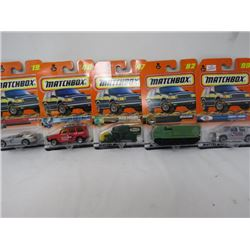 LOT OF 5 MATCHBOX TOYS (VIPER, MERCEDES, GRAIN GRABBER, ETC…) *N.O.S.*