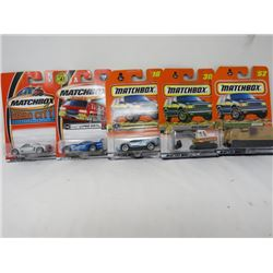 LOT OF 5 MATCHBOX TOYS (VIPER, LAMBORGINI, MISSION, ETC…) *N.O.S.*