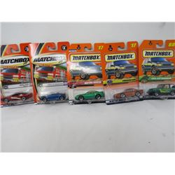 LOT OF 5 MATCHBOX TOYS (BMW, AUDI, MUSTANG, ETC…) *N.O.S.*