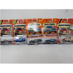 LOT OF 5 MATCHBOX TOYS (BMW, JAGUAR, STREET CLEANER, ETC…) *N.O.S.*