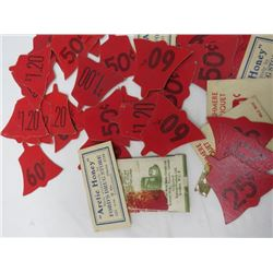 LOT OF 1920S STORE LABELS