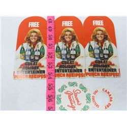 CANADA DRY LABELS (ANN MARGRET)