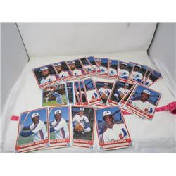 LOT OF TRADING CARDS (O-PEE-CHEE) *1985 MONTREAL EXPOS*