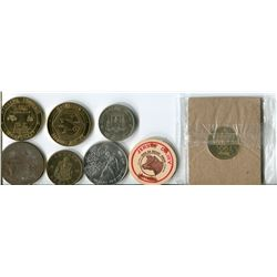 LOT OF TOKENS AND COINS
