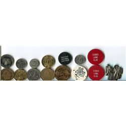 LOT OF ASSORTED COINS AND TOKENS