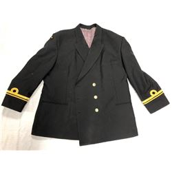 PARADE COAT (BLACK) WITH BUTTONS AND CUFF DETAIL SIZE XL