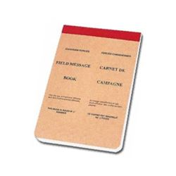 CANADIAN FORCES FIELD MESSAGE BOOK, NEW.