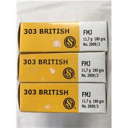 AMMO (SELLIER & BELLOT) *303 BRITISH* (180 GRAINS) *FMJ* (60 ROUNDS)