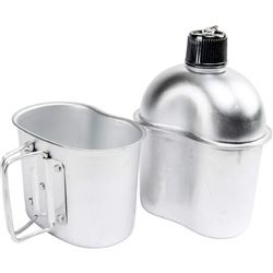 MAXAM 32 OZ ALUMINUM CANTEEN W/ CUP AND COVER