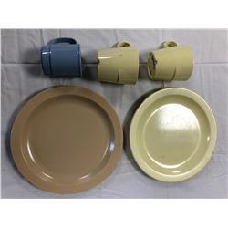 CANADIAN FORCES SURPLUS MILITARY MELAMINE PLATES AND CUPS